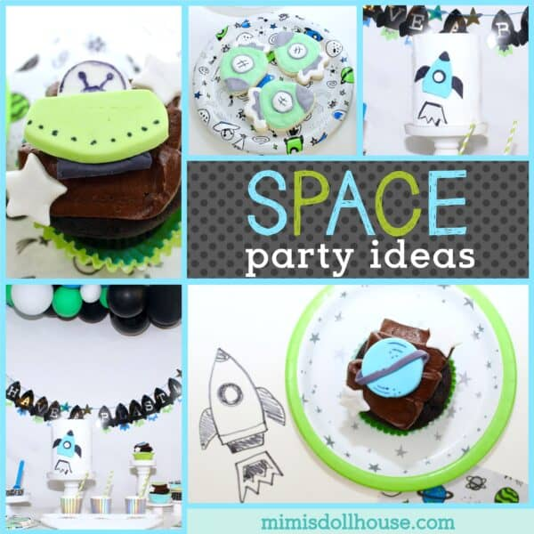 Terrific How To Throw A Kids Space Themed Party Mimis Dollhouse Funny Birthday Cards Online Sheoxdamsfinfo