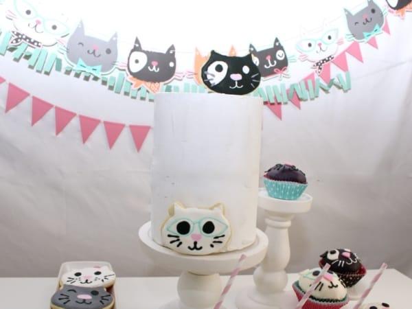 Magnificent Throw The Purr Fect Cat Themed Birthday Party Mimis Dollhouse Funny Birthday Cards Online Ioscodamsfinfo