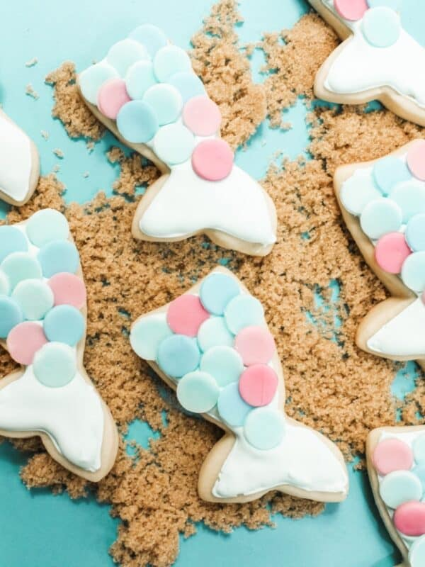 mermaid cookies for a mermaid party