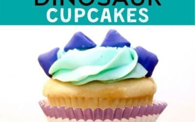 Super Easy Dinosaur Cupcakes