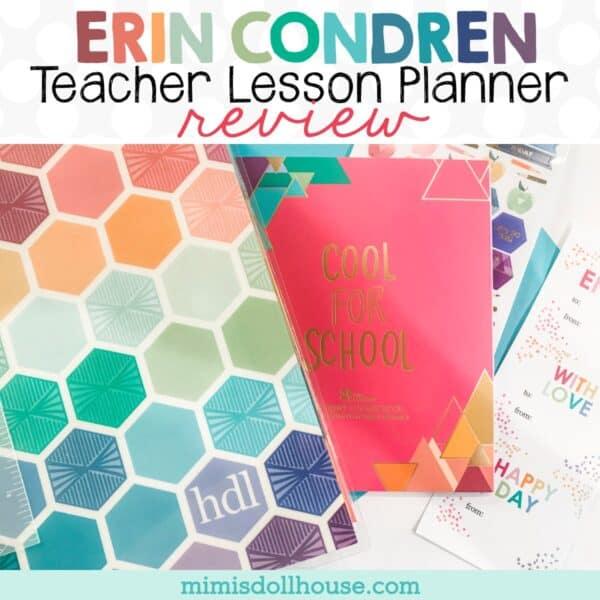 Beautiful Functional Erin Condren Teacher Lesson Planner