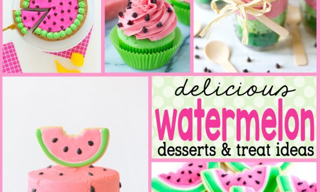 22 Mouth-watering Watermelon Cakes, Cookies and Desserts