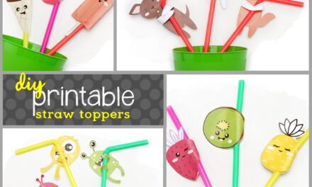Fun Themed DIY Straw Toppers
