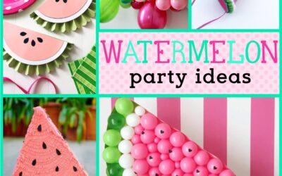 Watermelon Decorations + Party Ideas