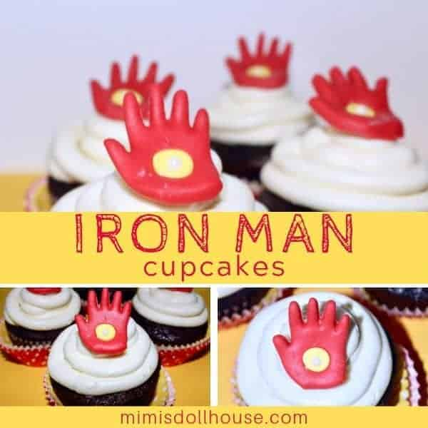 Easy + Simple Iron Man Cupcakes