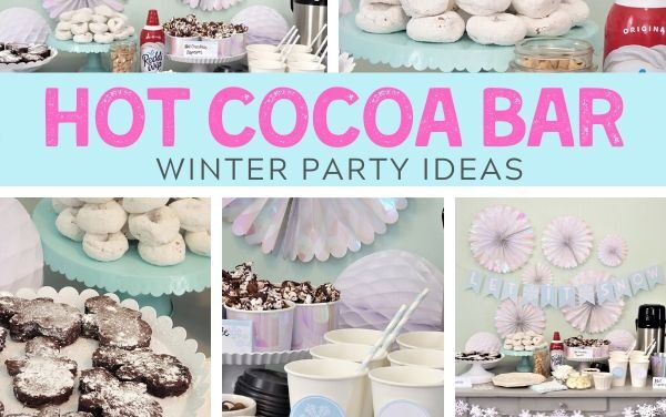 Winter Hot Chocolate Bar + Free Winter Printables