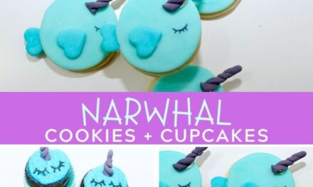 Easy Narwhal Cookies + Cupcakes