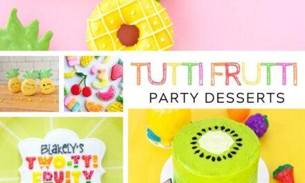 Tutti Frutti Cakes, Cookies + Dessert Ideas