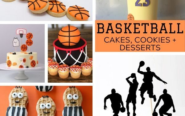 Basketball Cakes, Cookies + Food Ideas
