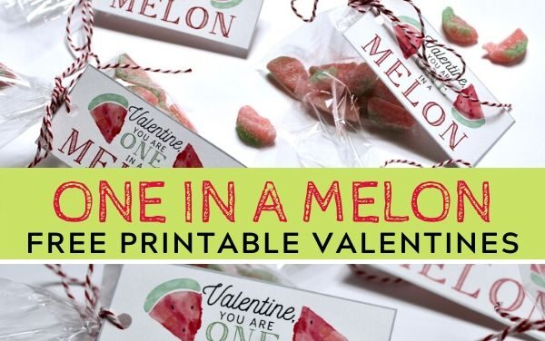 Free Printable Watermelon Valentines