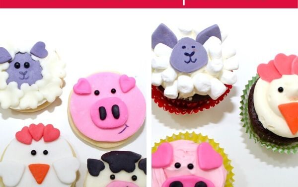 Friendly Farm Animal Cupcakes + Cookies