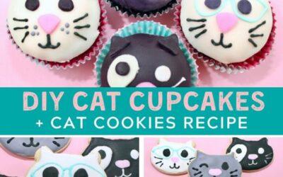 Purr-fect Cat Cupcakes + Cat Cookies Tutorial