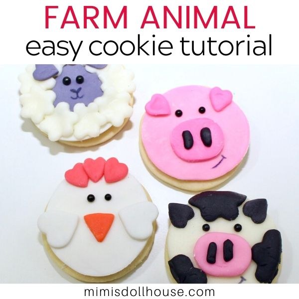 Easy DIY Farm Animal Cookies