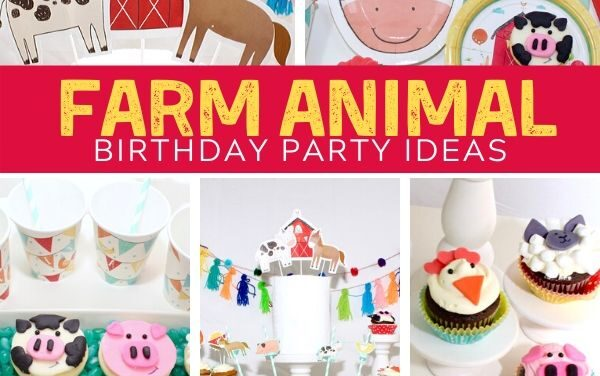 Adorable + Playful Farm Birthday Party
