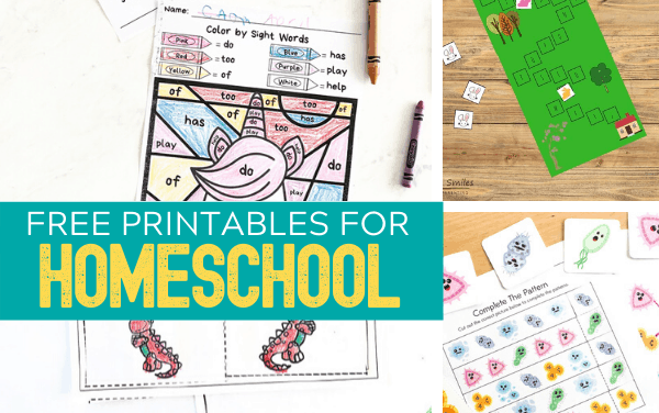 Free Printables for Homeschool