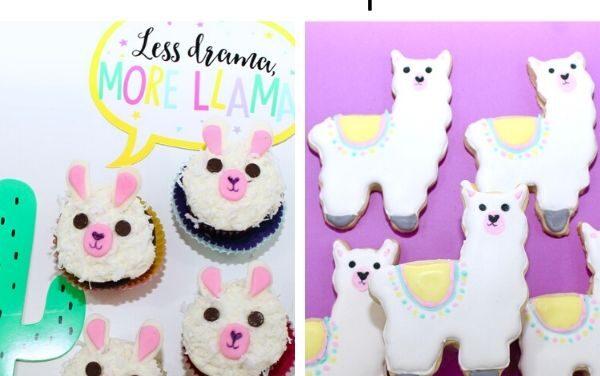 DIY Llama Cookies + Llama Cupcakes Recipe