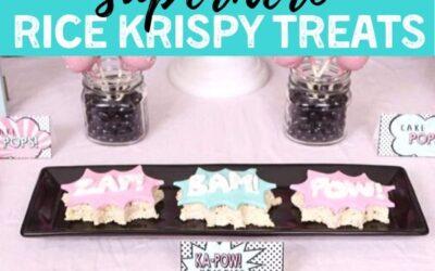 Simple DIY Superhero Rice Krispy Treats