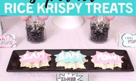 Simple DIY Superhero Rice Krispy Treats