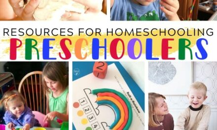 Resources for Homeschooling Preschoolers
