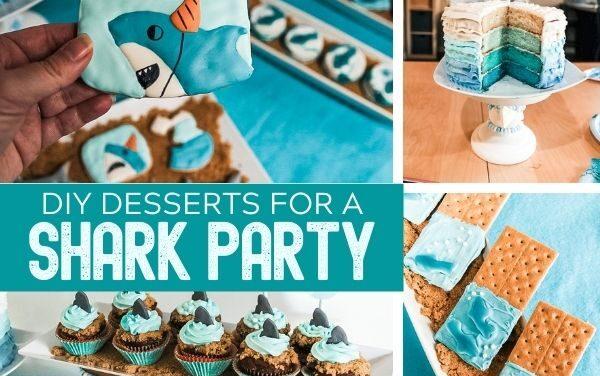 Shark Cupcakes + Cookies