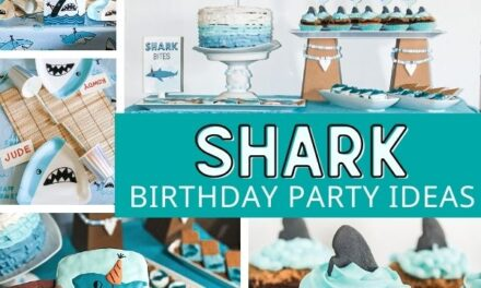 Shark Party Games, Desserts + Decor Ideas