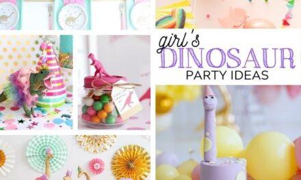 Stylish Girly Dinosaur Party for Girls Ideas + Decor