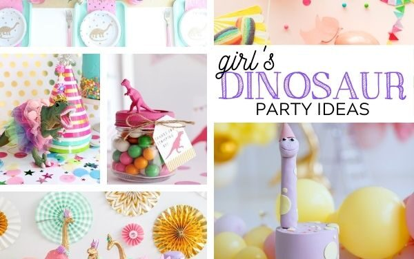 Stylish Girly Dinosaur Party for Girls Ideas + Decor