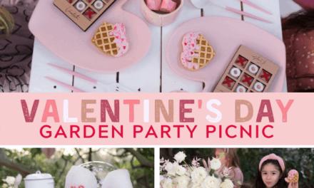 Adorable Garden Themed Valentine Picnic