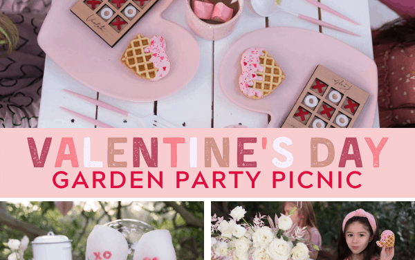 Adorable Garden Themed Valentine Picnic