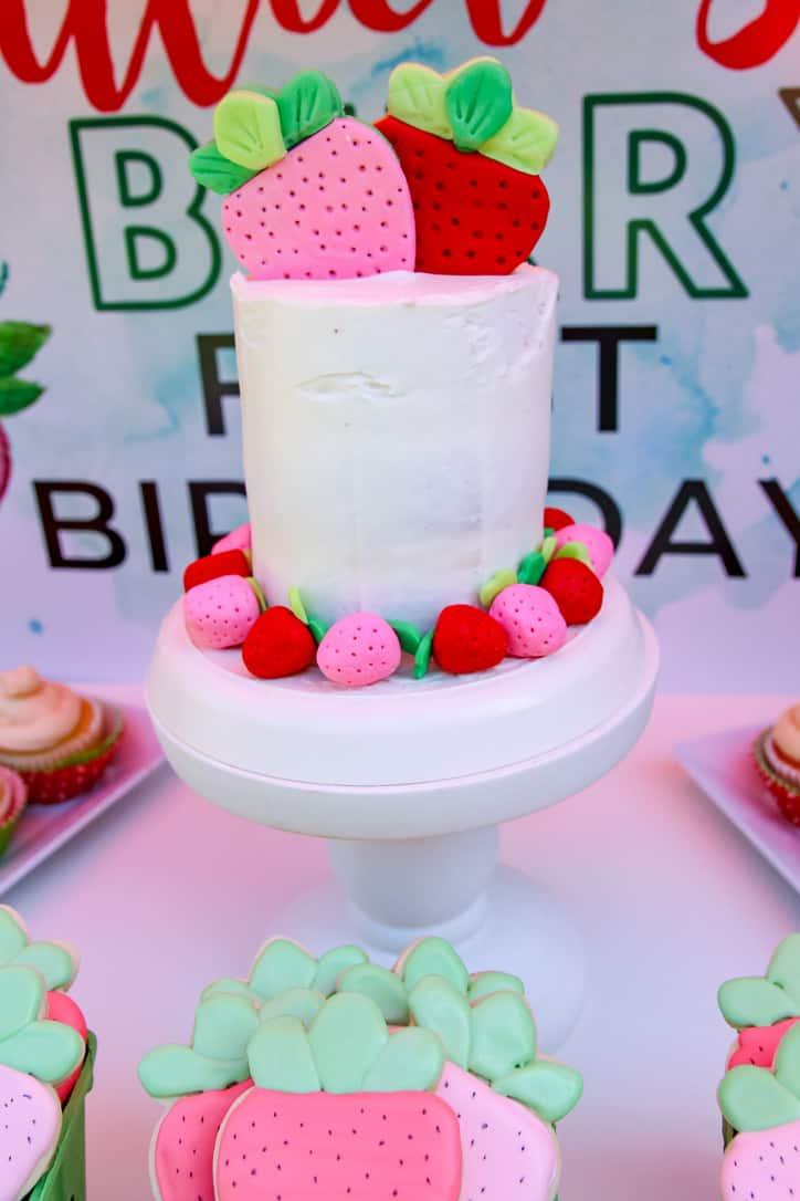 Strawberry Fondant Cake Decorations