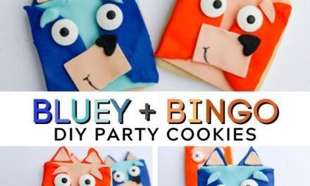 Easy + Cute DIY Bluey Cookies