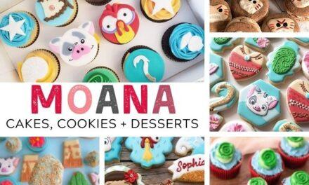 30+ Moana Cake, Cookies + Dessert Ideas