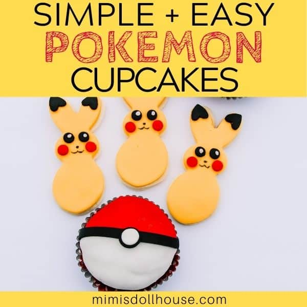 Simple Poke Ball Cupcakes for a Pokemon Party