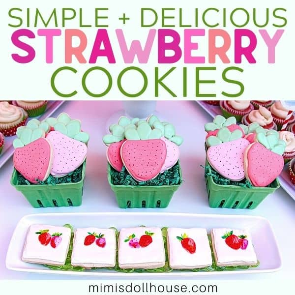 Hot to Make Easy + Adorable Strawberry Cookies