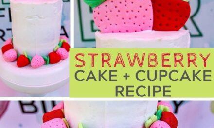 Adorable + Easy Strawberry Cake Recipe