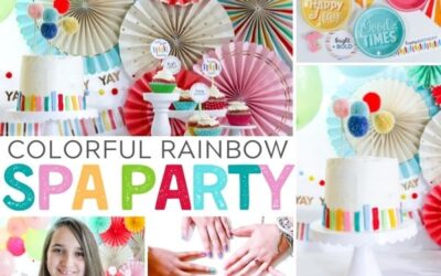 How to Plan a Colorful Spa Day Party