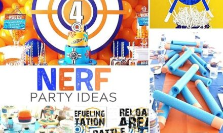 On Target Nerf Party Supplies + Ideas