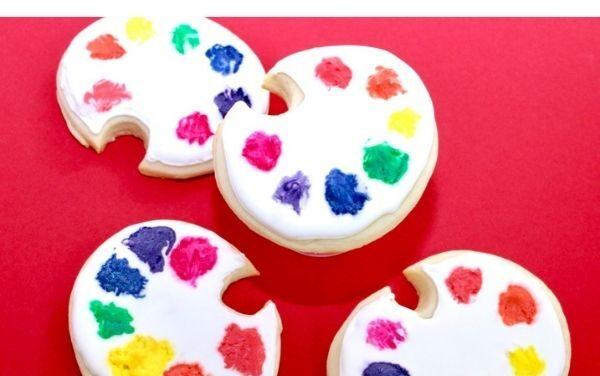 Simple DIY Paint Palette Cookies
