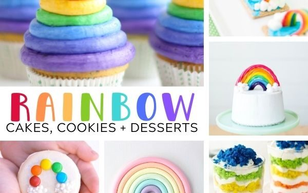 15+ Rainbow Cakes, Cookies + Desserts for Parties
