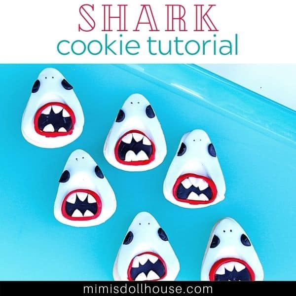 Easy Fondant Shark Mouth Cookies